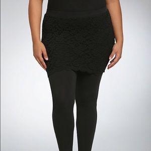 torrid Pants - Torrid Lace skirt Leggings